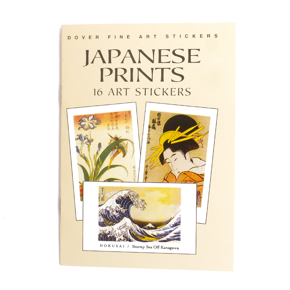 Dover, Sticker, Book, Japanese Print